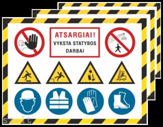 9. Statybų saugos plakatai