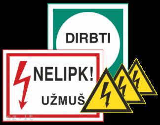 6. Apsaugos nuo elektros ženklai
