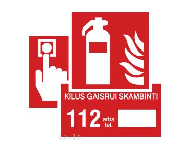 2.1. Gaisro saugos ženklai